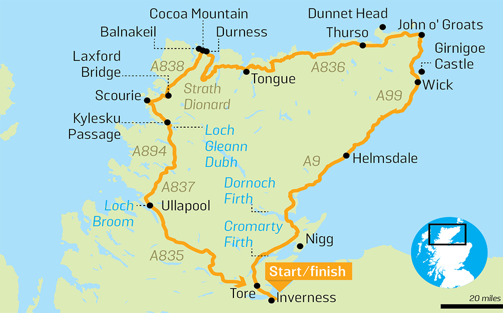 Example of the route (not exact to what we did).